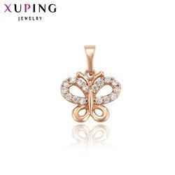 Xuping różowe złoto kolorowy platerowany biżuteria Temperament naszyjnik damski wisiorek dla kobiet prezent na boże narodzenie 33932