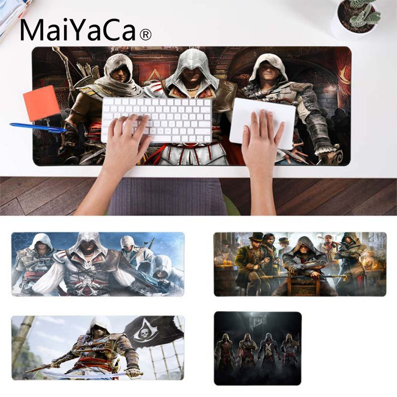MaiYaCa Hot Sales Assassin's Creed IV Black Flag Customized Laptop Gaming Mouse Pad Laptop Gaming Lockedge Mice Mousepad