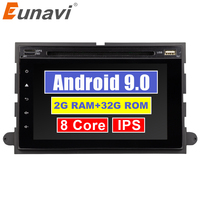Eunavi Car DVD 2 din radio for Ford 500/F150/Explorer/Edge/Expedition/Mustang/fusion/Freestyle 8 cores 2G+32G Android 9