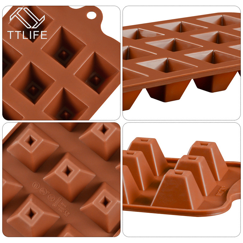 Popular Brand Ttlife 16 Stytles Chocolate Decorating Tools Jelly Pudding Mold Silicone Ice Cube Diy Silicone Bakeware Stable Chocolate Tools Baking & Pastry Tools Kitchen,dining & Bar