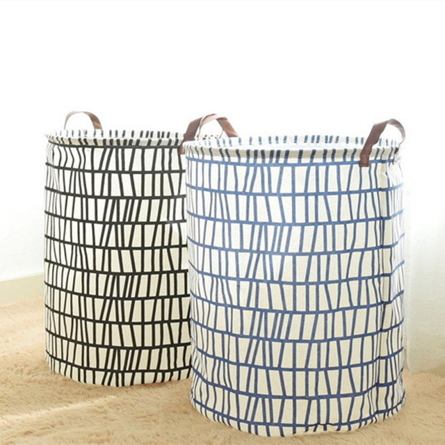 Bucket Dirty Clothes Barrel Kitchen Wardrobe Fabric Large Storage Baskets For Toys Containers Organization Laundry Basket