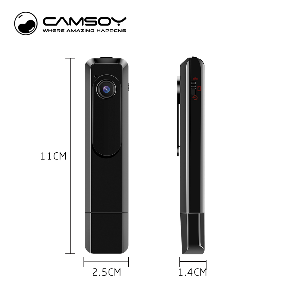 CAMSOY C181 Wearable Mini Camera DV 1080P Full HD H.264 Voice Recorder Pen Micro Body