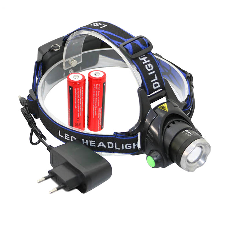 T6 Headlamp led HeadLight Zoom 3 mode 18650 lights Rechargeable Waterproof Head Lights for hunting with 2x 18650 Battery ChargerT6 Headlamp led HeadLight Zoom 3 mode 18650 lights Rechargeable Waterproof Head Lights for hunting with 2x 18650 Battery Charger