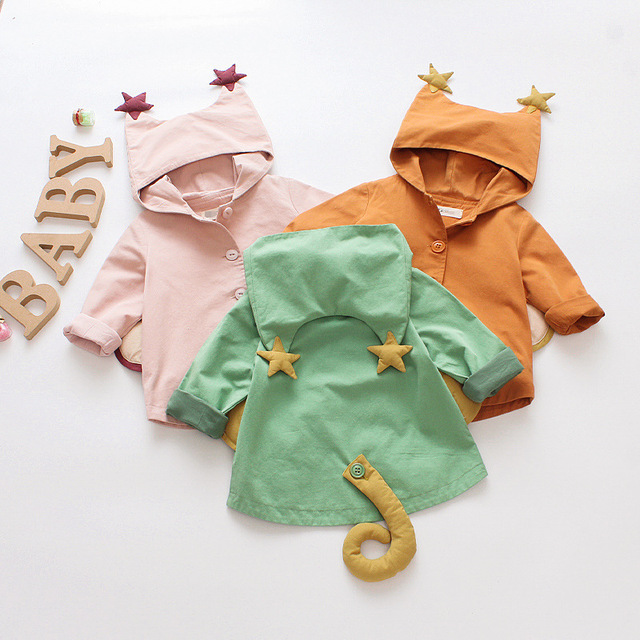 Baby Coats 2018 Kids Jackets Clothing Baby Girls Clothes Fashion Hooded Breasted Coats Children Outerwear&Coats