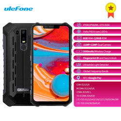 Original Ulefone Armor 6 4G Smartphone 6.2 Inch Android 8.1 Octa core 2.0GHz 6GB RAM 128GB ROM Fingerprint 5000mAh Mobile phone