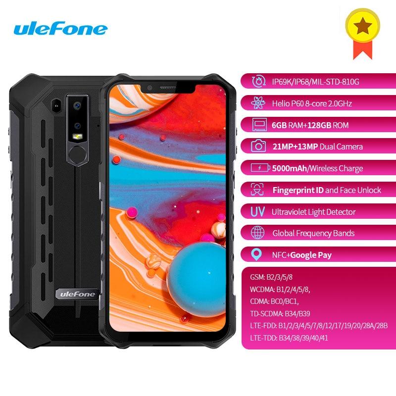 Smartphone Original Ulefone Armor 6 4G 6.2 pouces Android 8.1 Octa core 2.0GHz 6GB RAM 128GB ROM empreinte digitale 5000mAh téléphone portable