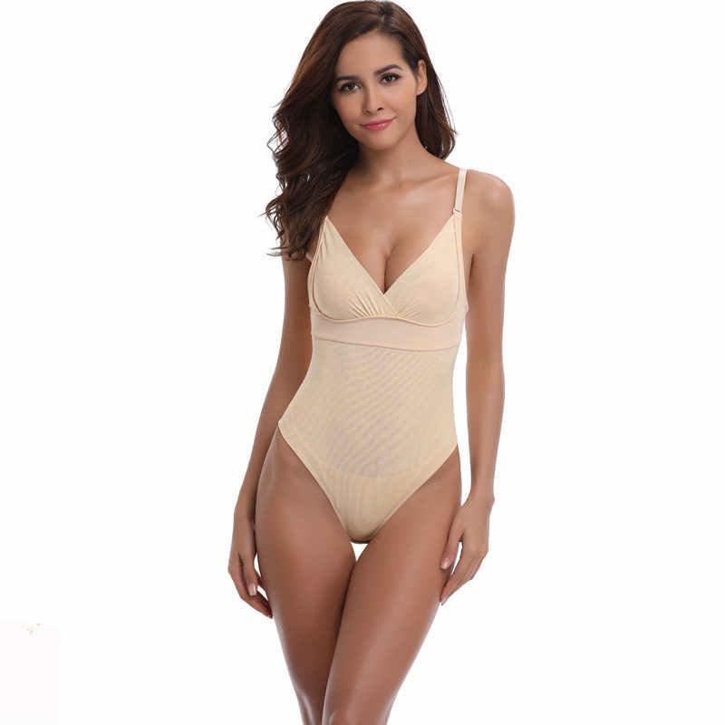 f5b319178eaa5 Plus Size Open Crotch Thong Bodysuit for Women Shapewear Body Shaper Sexy Black  5XL 4XL Lingerie