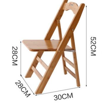 Children Bamboo Portable Folding study Chair dining chair