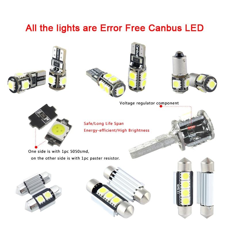 XIEYOU 9pcs LED πακέτο κιτ εσωτερικού - Φώτα αυτοκινήτων - Φωτογραφία 2