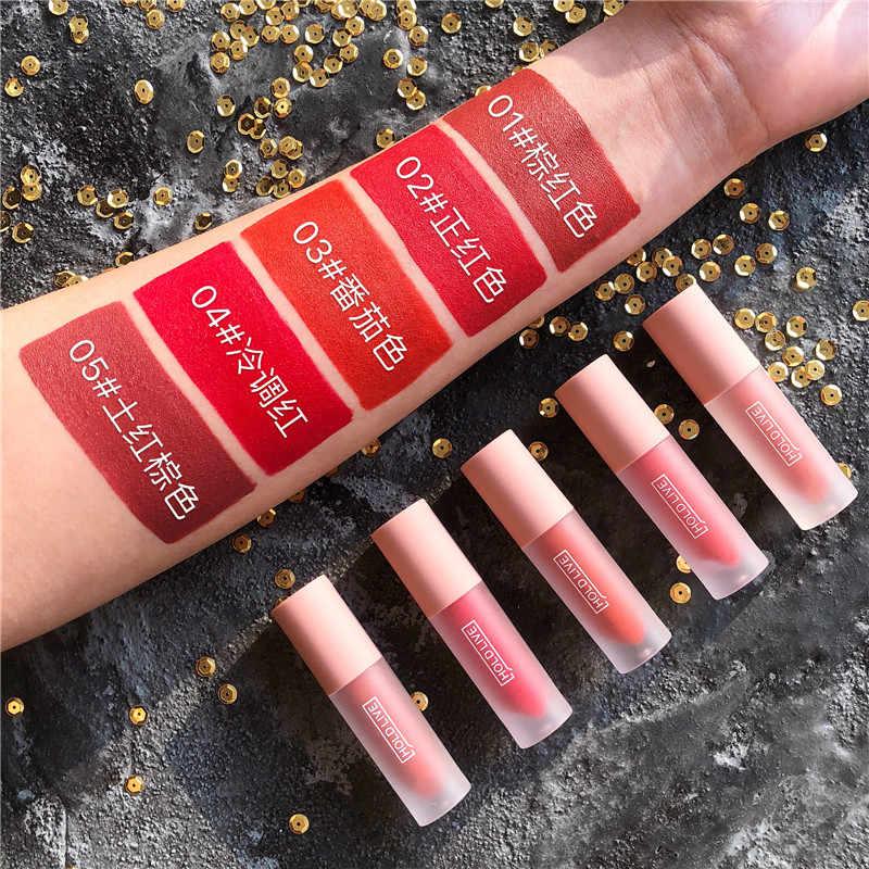 Nouveau 5 pièces tenir en direct mat brillant à lèvres ensemble hydratant étanche brillant à lèvres brillant à lèvres teinte velours liquide rouge à lèvres Kit de maquillage coréen