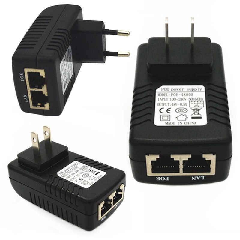 Conversor adaptador de corriente Universal para dispositivo de red, adaptador de suministro para enchufe POE US/EU, adaptador de enchufe de pared, inyector Ethernet