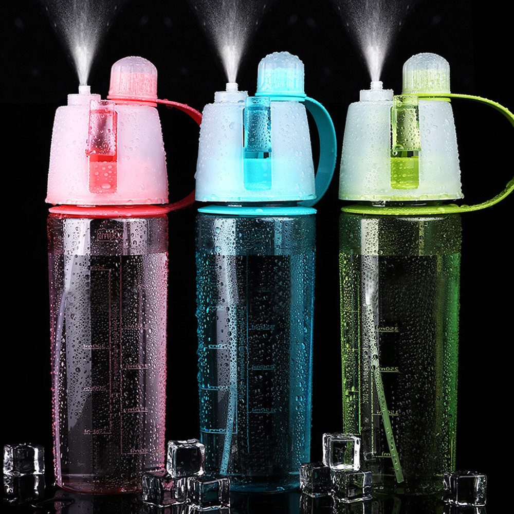 600ML Water Bottle Spray Plastic Cup Leakproof Candy Color Bottle Gym Yoga Sport Kettle Travel Camping Portable Drinking Product-in Water Bottles from Home & Garden on AliExpress