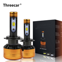 Z5 Car TriColor 3 Color LED Headlight Kits H1 H4 H7 H11 HB3 HB4 50W 5800LM