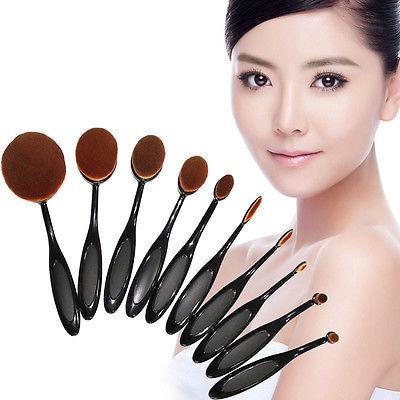 10 PC Conjunto de Maquiagem Kits de Escova Em Forma de Poder Fundação Rosto Lábio Sobrancelha Eyeliner Brushes Define Conjuntos de Ferramentas de Beleza Maquiagem