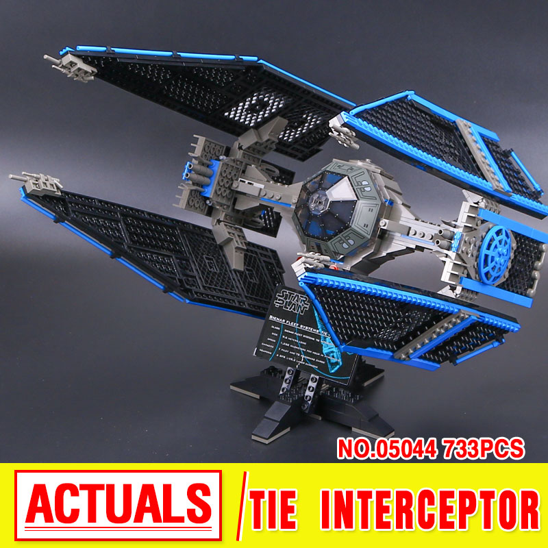 Lepin 05044 Star Serie Wars Limited Edition Die TIE Interceptor Bausteinziegelsteine Modell Spielzeug 7181 Boy Geschenke конструктор lepin star plan истребитель tie interceptor 703 дет 05044