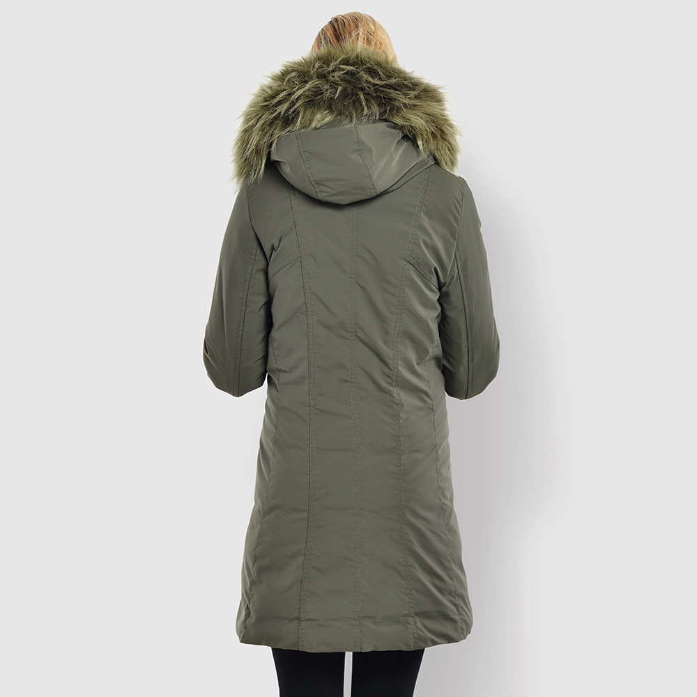 Noir De À Épaissir Hiver Capuche Marque Style Parka Femmes Fourrure vert 155 Col Minwlj 4qpYUzw7W4
