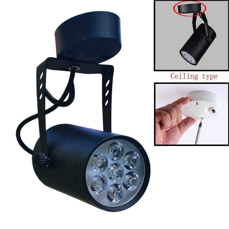 JIAWEN 7W Led Track Lighting AC85-265V Aluminum Black Shell Rail Spot Lamp Best Price AC85-265V