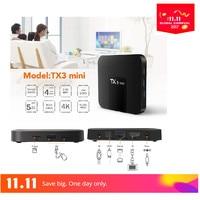 Mesuvida S905W TX3 Mini TV Box 2.4 GHz WiFi Android 7.1 1G RAM 16 GB ROM Pomoc 4 K Set Top Box