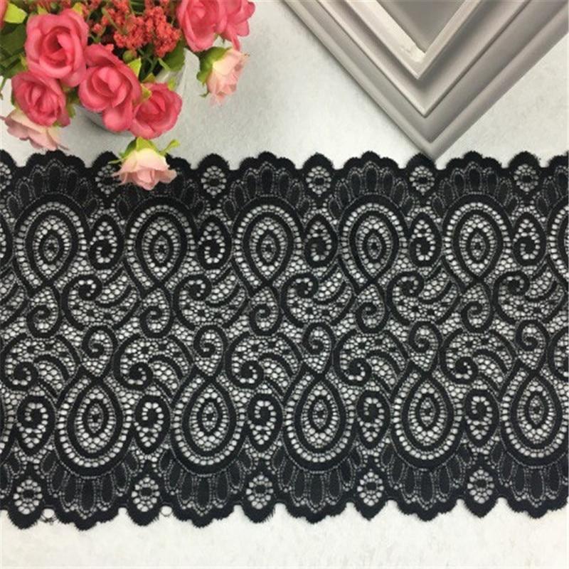 Эластичная кружевная ткань, 9 цветов, 1 ярдов, 18 см, ширина, для рукоделия, Швейные аксессуары для украшения одежды, эластичная кружевная отделка