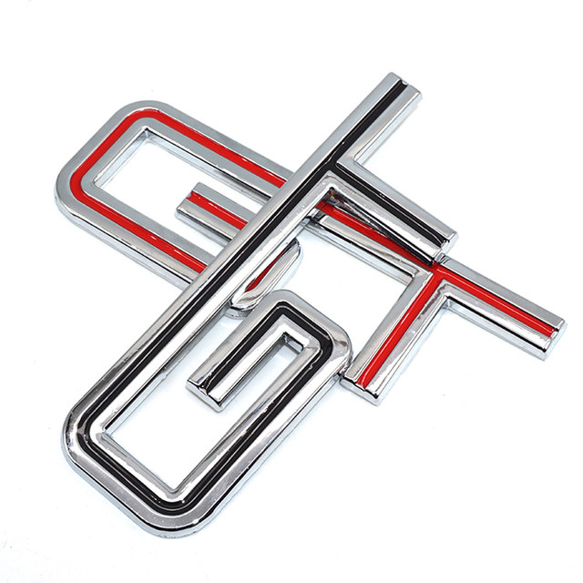 Online Shop Staroad 10pcs Wholesale 3d Metal Gt Symbol Emblem Badge