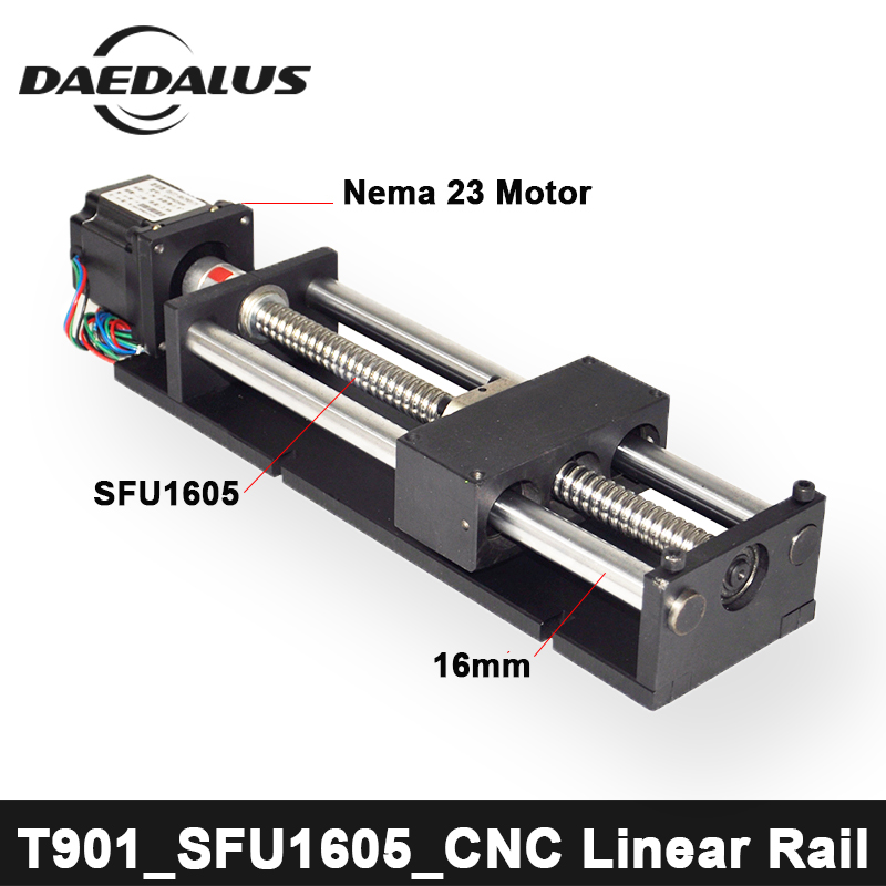 Free Shipping CNC 200mm 400mm Stroke Ball Screw Linear Module Guide Rail Slide Actuator CNC Stage