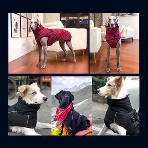 Image 4 - Hurtownia odzieży dla zwierząt domowych kurtka dla psa zimowe ubrania dla psów czerwone ubrania dla psów Golden Retriever wodoodporny duży pies kurtka czarny