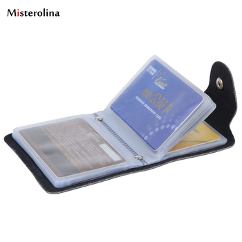 Hasp Women&men Card Bags Name ID Business Card Holder High Quality PU Leather Bank credit Card Case L09830