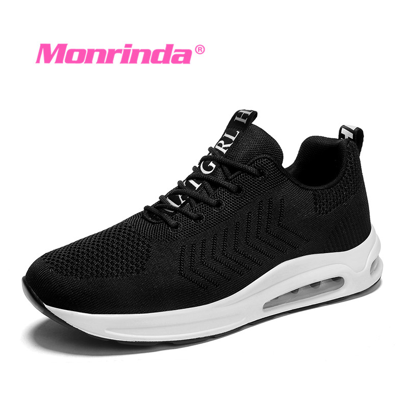 8077869a3ba New Air Women Running Shoes Breathable Fabrics Sport Woman Shoes Height  Increasing Cushion Sneakers zapatillas mujer deporte 7.5