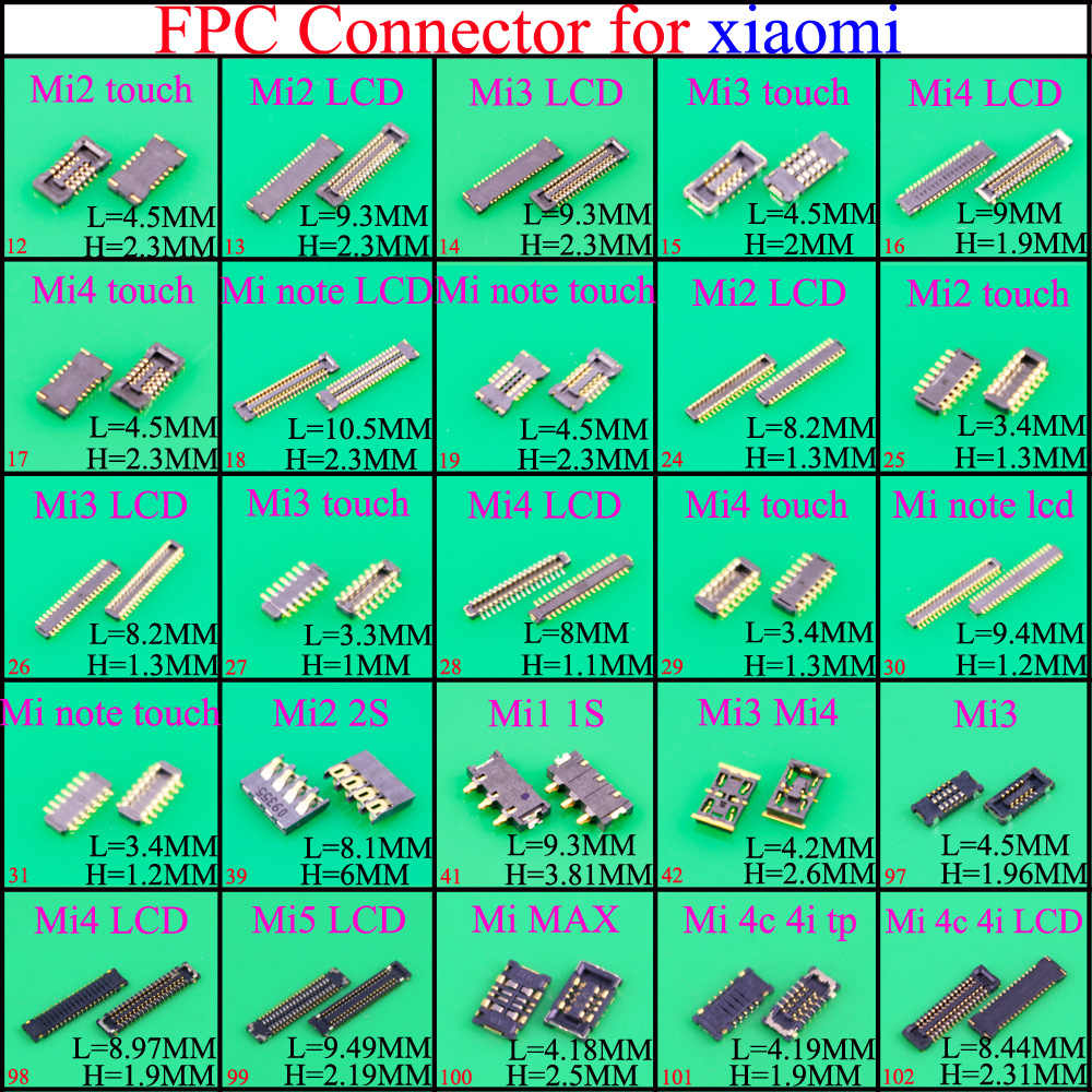 FPC Connector socket for Xiaomi Mi4 Mi4 Mi2 Mi3 Mi1 1s 2 2s 4c 4i Note MAX Touch & LCD Display Screen on motherboard mainboard