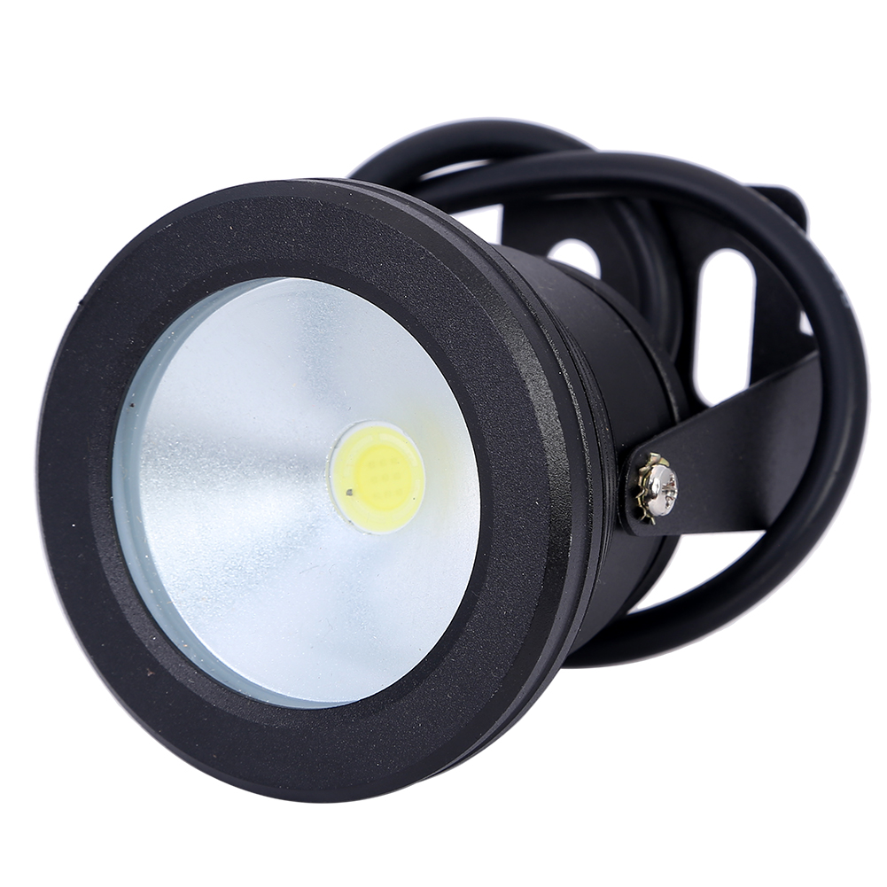 купить 10W 12V Underwater LED Light 1000LM Waterproof IP68 Warm White Cool White Fountain Pool Light Lamp недорого