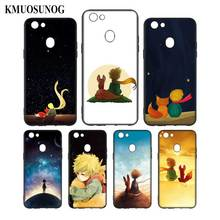 Silicone Phone Bag For OPPO F5 F7 F9 A5 A7 R9S R15 R17 Black Soft Case The Little Prince With the fox Style