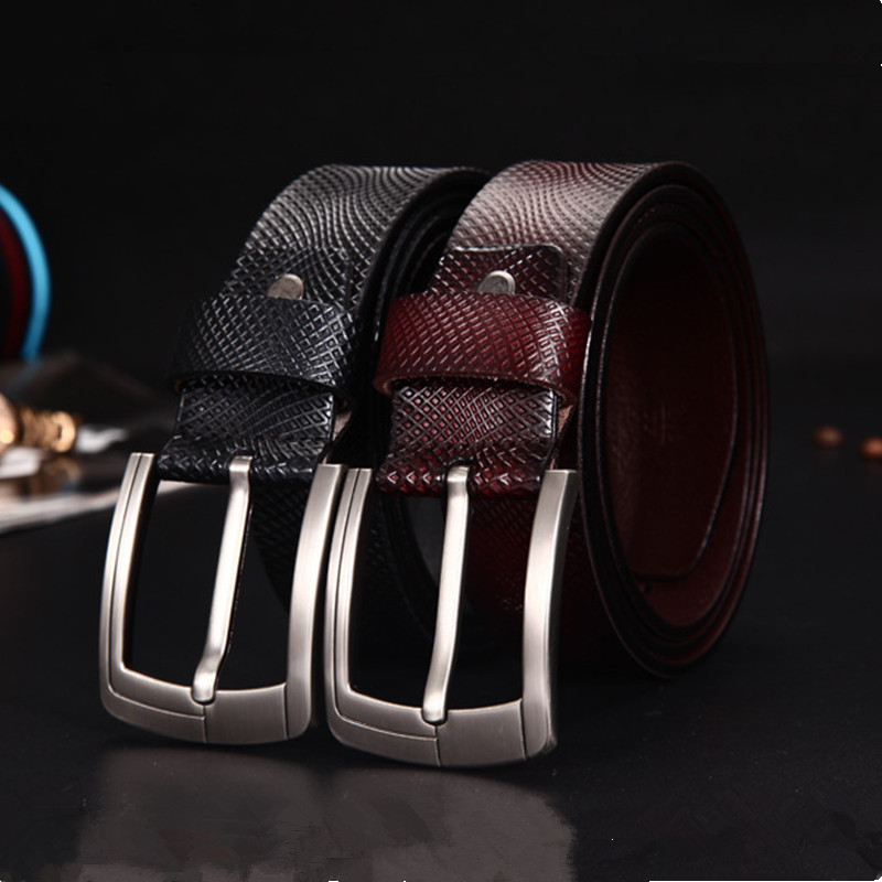Industrious El Barco Genuine Leather Men Belt Cowhide Black Coffee Casual Belts For Men High Quality Designer Plaid Brown Male Belt Strap Bracing Up The Whole System And Strengthening It Men's Belts