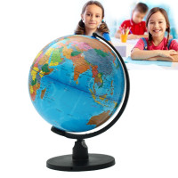 25cm World Globe Student Learn Earth Geography Educational Toy School tationer Supplies Office Desktop Decor Children Gift