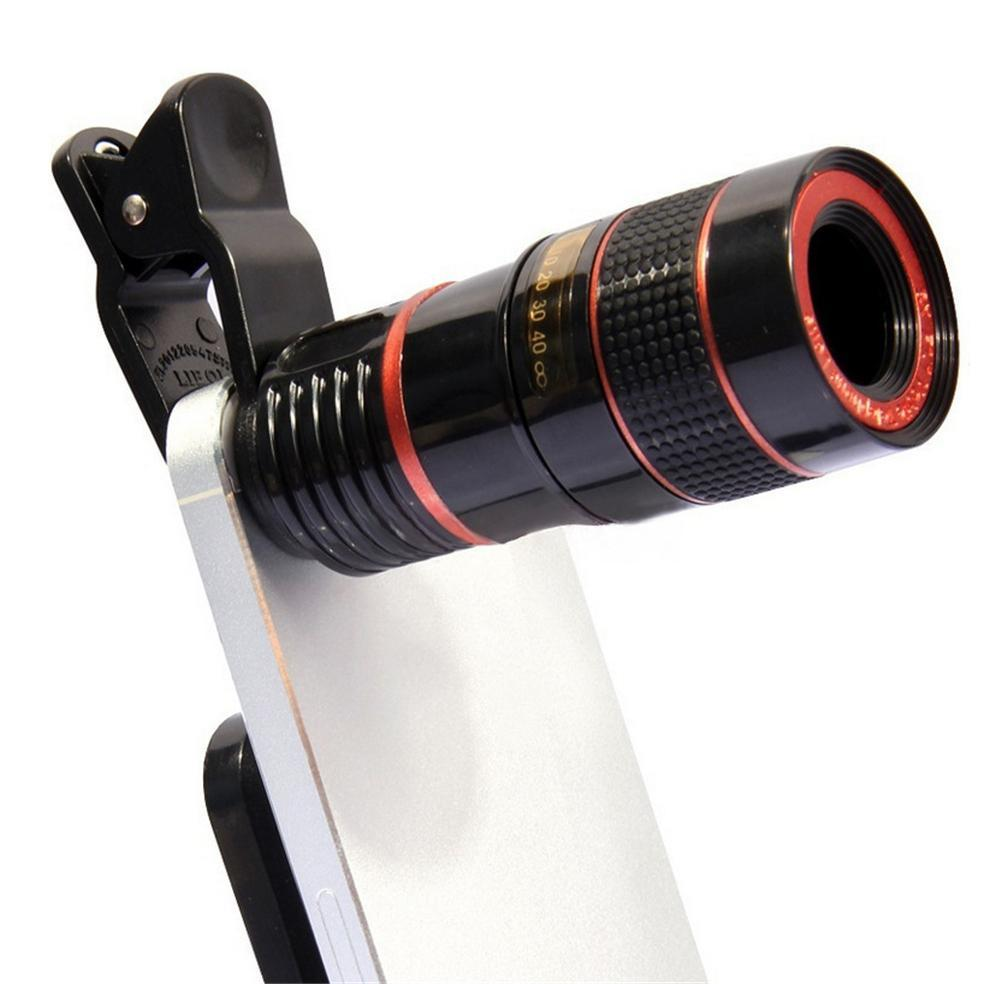 Universal Clip 8X 12X Zoom Mobile Phone Telescope Lens Telephoto External Smartphone Camera Lens For iPhone For Samsung Huawei