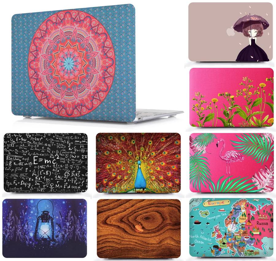 ULCLOUD Oil painting Case for Macbook Air 11 13 Pro Retina 12 13 15 inch Touch Bar 13 15 Laptop Cover Shell free shipping