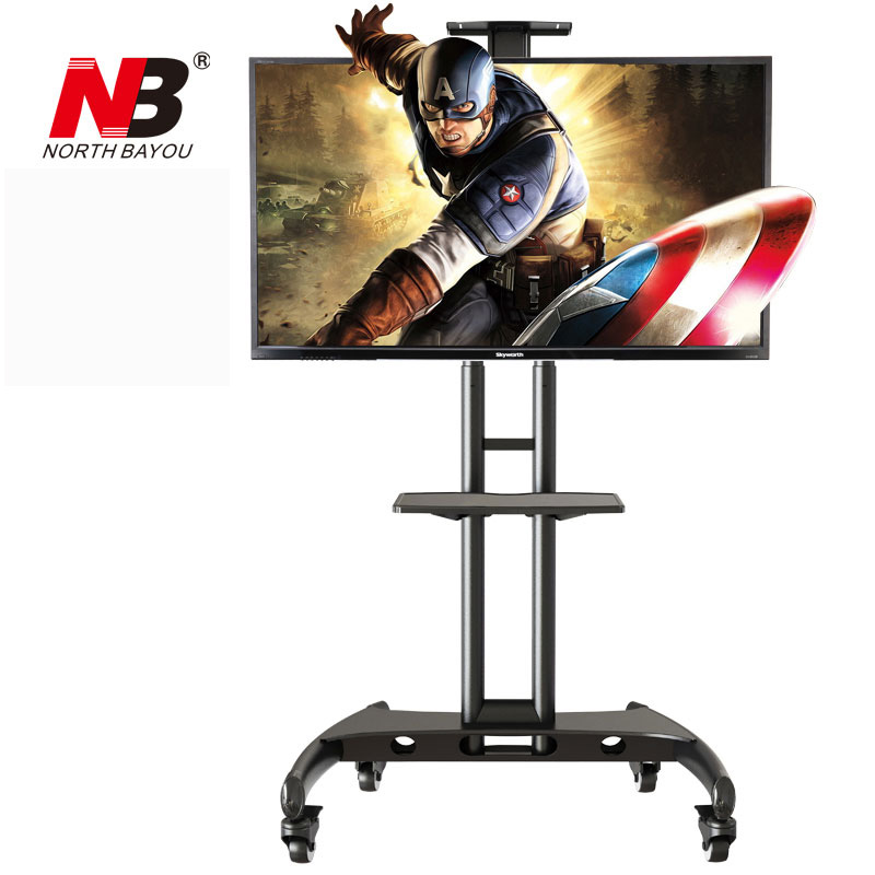Super Quality NB AVA1500-60-1P Mobile TV Cart 40-60 Flat Panel LED LCD Plasma TV Stand With Camera Tray and AV Shelf корпус серверный supermicro cse 815tq 563cb cse 815tq 563cb