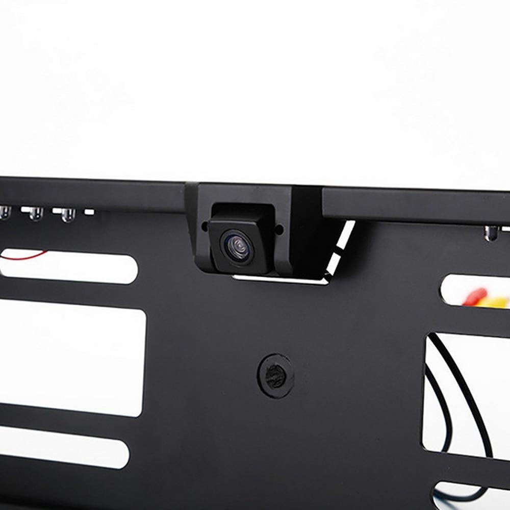 Image 5 - 16 LED Europeia Moldura Placa Câmera CMOS HD Câmera de Visão  Traseira Do Reverso Do Carro Câmera Traço Auto Veículo CâmerasCâmera  veicular