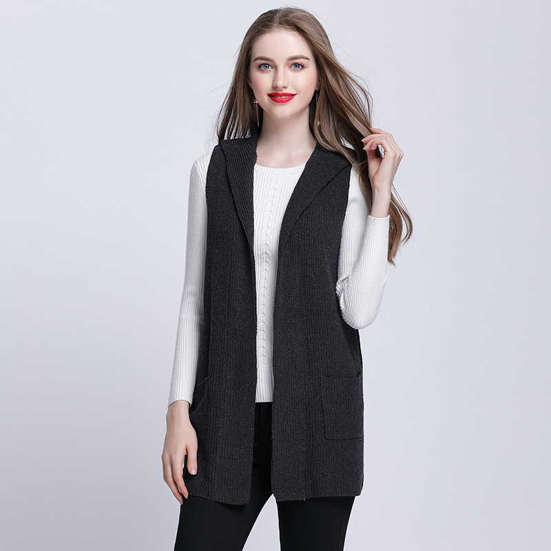 MUSENDA Plus Size Women Hooded Long Sweater Vest Coat 2017 Autumn ...