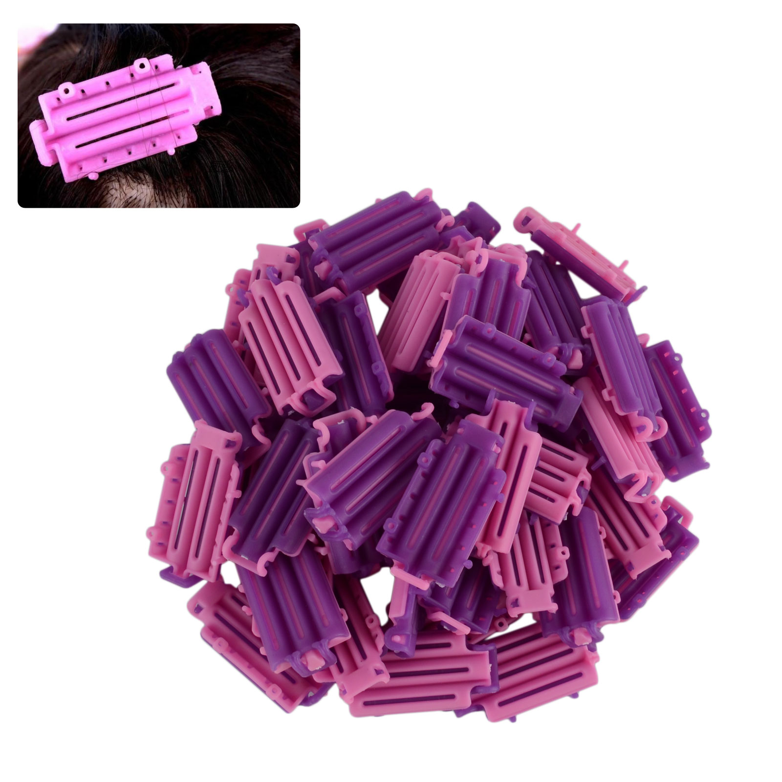 45pcs Women Beauty DIY Wave Perm Rod Corn Hair Clip Curler High Quality Maker Hairdressing Styling Tool For Salon