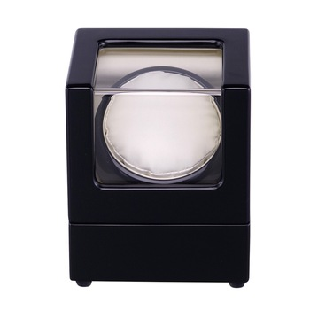 Watch Winder ,LT Wooden Automatic Rotation 1+0 Storage Case Display Box (Outside is black Inside is white)2019 New style