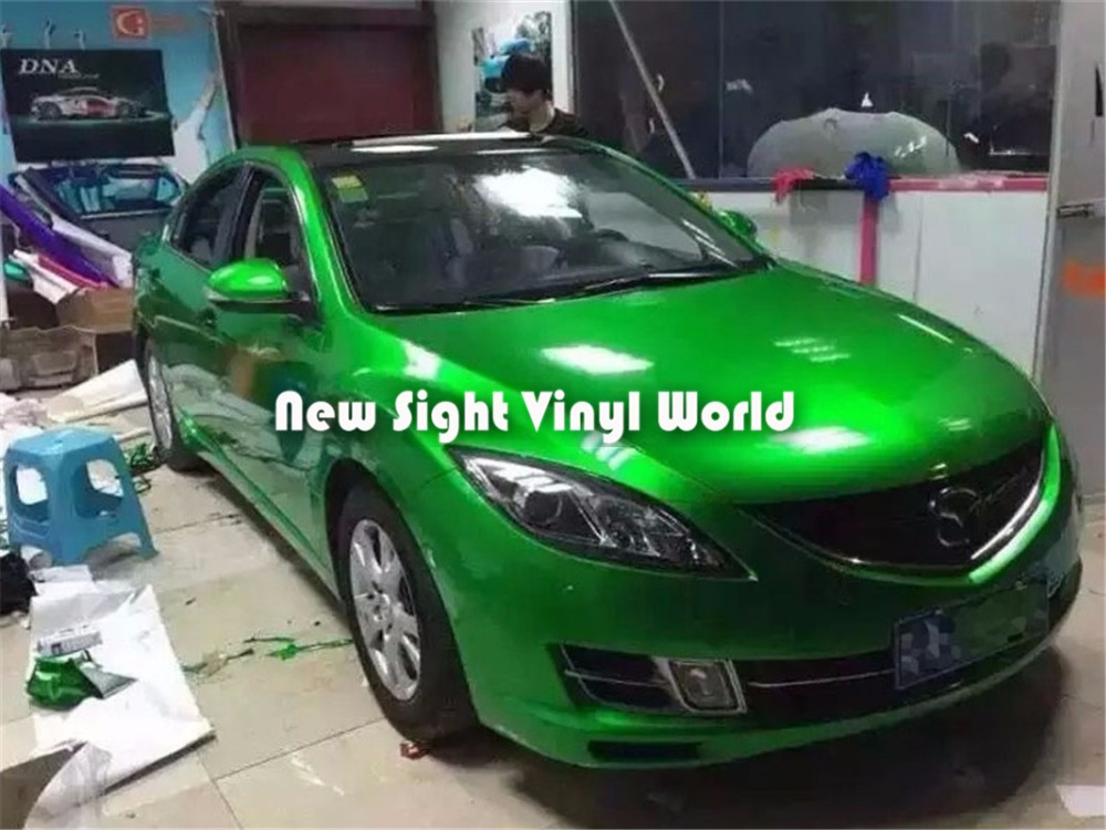 High Quality Glossy Candy Green Vinyl Wrapping Film Air