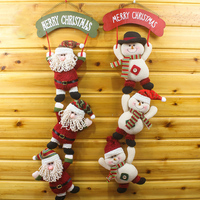 1 Pcs Lot Merry Christmas Santa Claus And Snowman Ornaments String Christmas Hanging Pendant Supply Wall