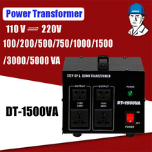 1500 Вт бытовой мощность трансформаторы сверхмощный напряжение Регулятор конвертер мощность трансформатор 220 В auf 110 В конвертер DT-1500VA