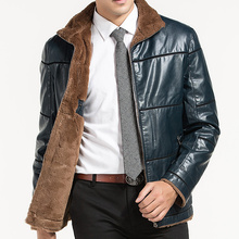 9XL 8XL 7XL 6XL 5XL 4XL New Warm Winter Sheepskin Men's Leather jacket Men Leisure Fur coat Men Brand luxury Real Leather coat