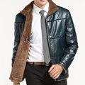 9XL 8XL 7XL 6XL 5XL 4XL Nueva Piel de Oveja De Invierno de Los Hombres Hombres de la chaqueta de cuero abrigo de Piel de Ocio Hombres de la Marca de lujo de Cuero Real escudo