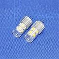 10pcs/lot Aluminum LED Crystal Bulbs 360 Beam Angle White/Warm White SMD2835 12leds AC12V 2W G4 LED Lamp Lighting Bulbs