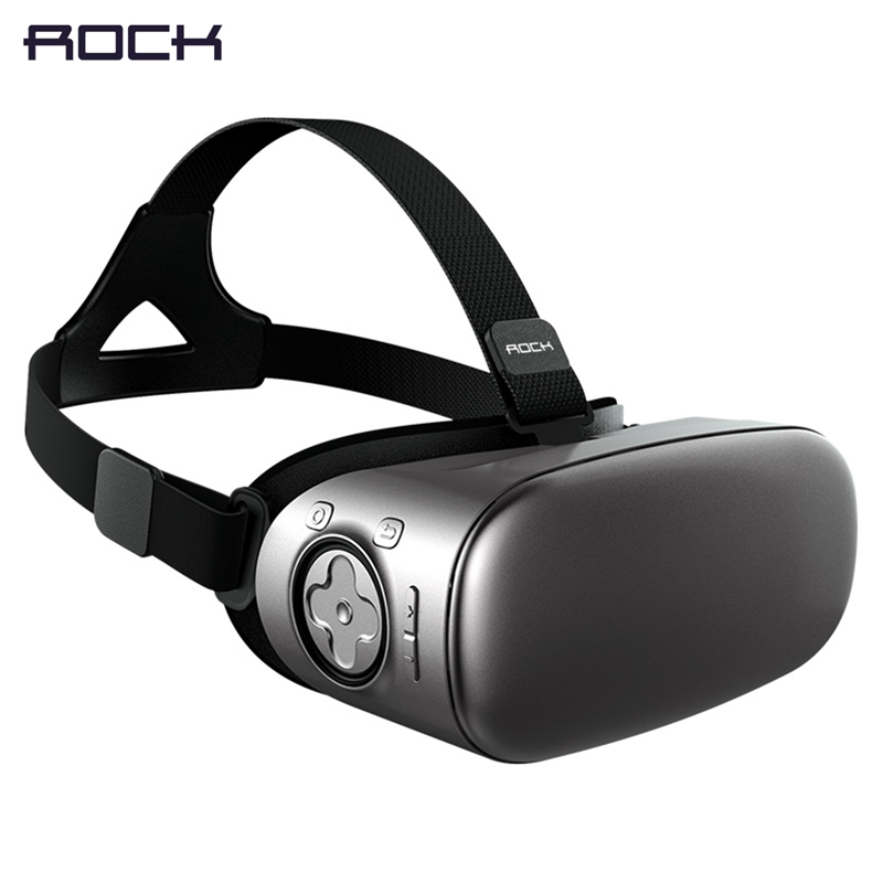 ROCK V6 3D Virtual Reality Glasses Headset, Virtual Reality 3D VR Glasses Private Theater Immersive with Android system