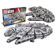 New Legoings 1381pcs Star Wars Millennium Falcon Model Building Blocks Kit Kids Educational Toys Christmas Birthday Gifts(China)