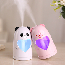Mini USB Panda Air Humidifier DC5V Silent Ultrasonic Diffuser Mist Maker Colorful Changing LED Night Light for Home Office Car