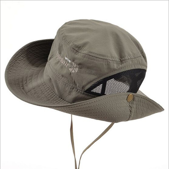 Classical Outdoor Bucket Hat Brim Quick-drying Breathable Sun Hats Hiking  Fishing Climbing Toucas Gross UV Protection HT51185 7314e9124c5